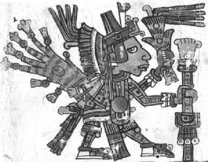 Xochipilli, códice Borgia